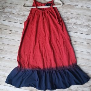 Polo Girls Red and Blue Swing Dress